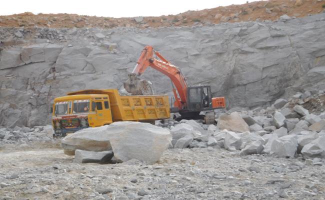 TDP Leader Is Illegal Mining - Sakshi