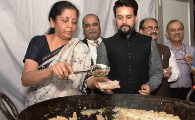 Halwa Ceremony Held At Finance Ministry Ahead Union Budget - Sakshi