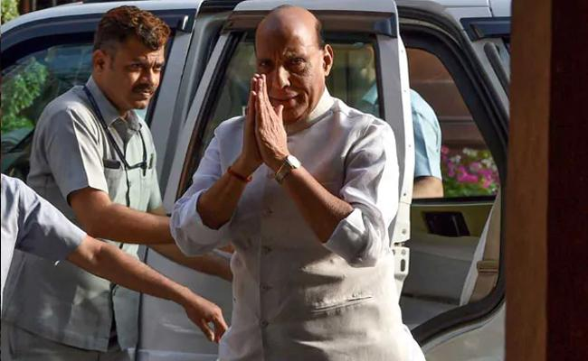 Rajnath Singh First Visit To Lucknow After Getting Re Elected To Parliament - Sakshi