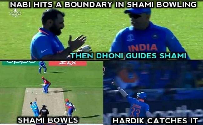 Fans Says Mohammed Shami Credit Goes To MS Dhoni - Sakshi