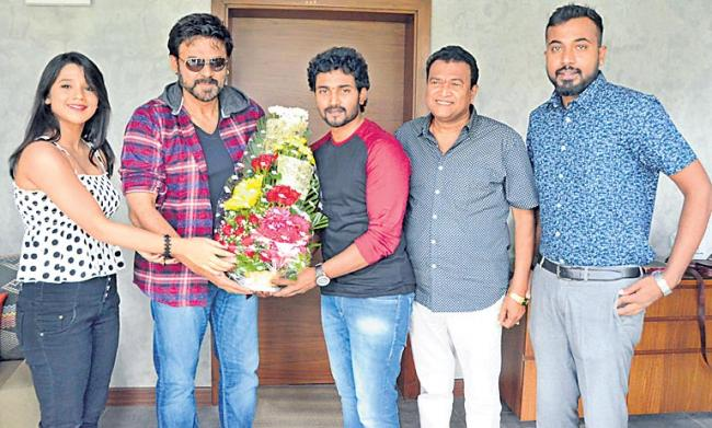 Venkatesh Launches Krishna Rao Super Market Teaser - Sakshi