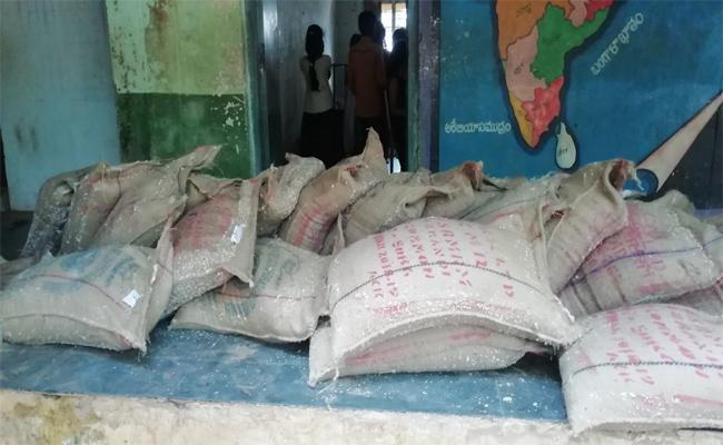 Ration Rice Spoiled In Govt School, JR Puram, Srikakulam District - Sakshi