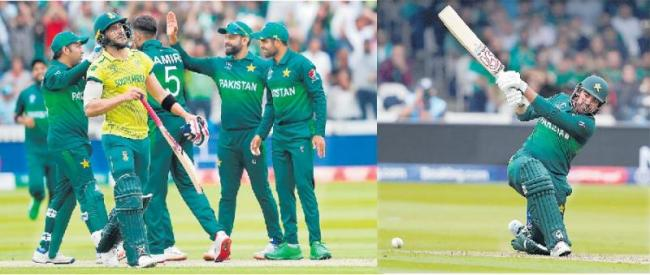 Pakistan win by 49 runs to knock South Africa out of Cricket World Cup 2019 - Sakshi