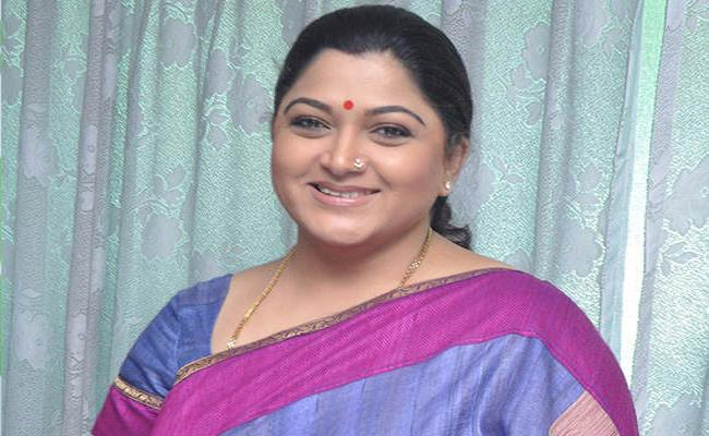 Kushboo Tweets Over A Container In Front Of Her House - Sakshi