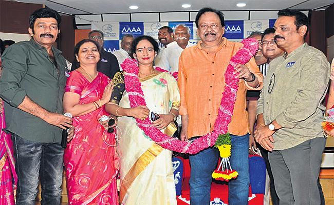 Naresh Honored to Krishnam Raju in MAA - Sakshi