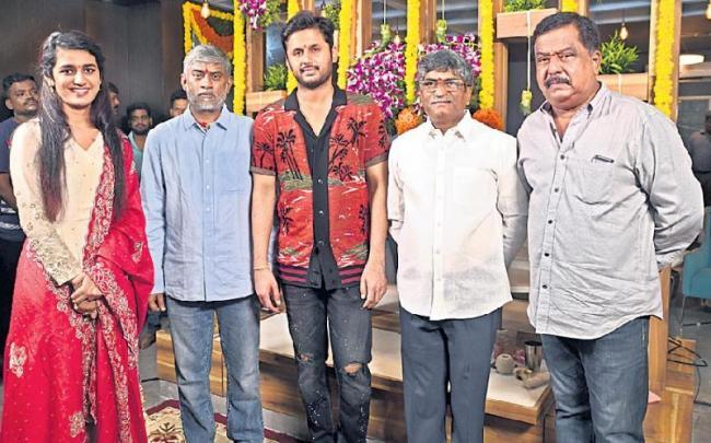 Nithin Priya Varrier New Movie Launch - Sakshi