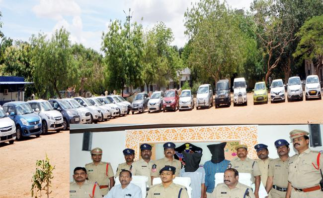 Police Arrested a Gang of Burglars Sell Cars to Convince Owners - Sakshi