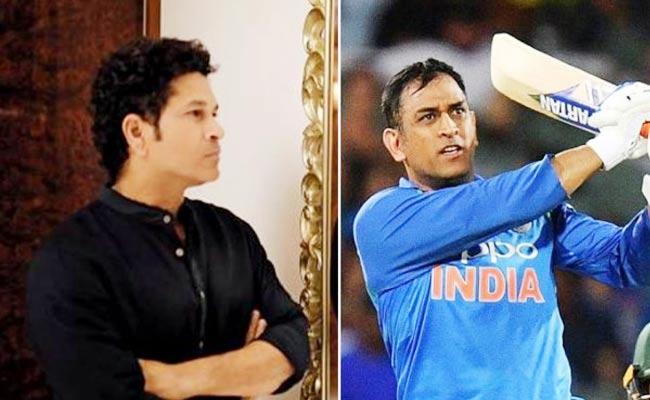 MS Dhoni Fans Troll Sachin Tendulkar - Sakshi