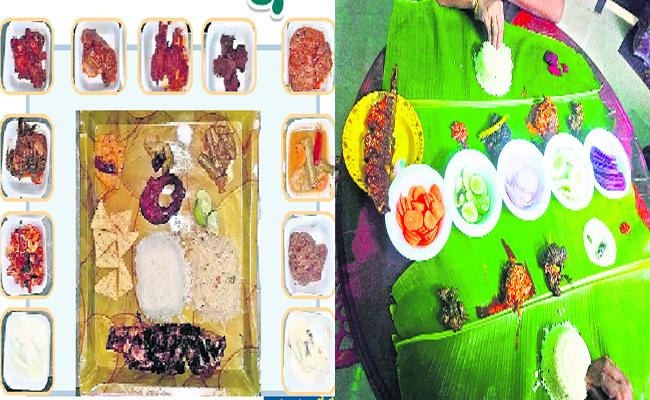 Tiffin with 20 Kinds Of Curry And 20 Varieties Of Items In Khammam Hotel - Sakshi