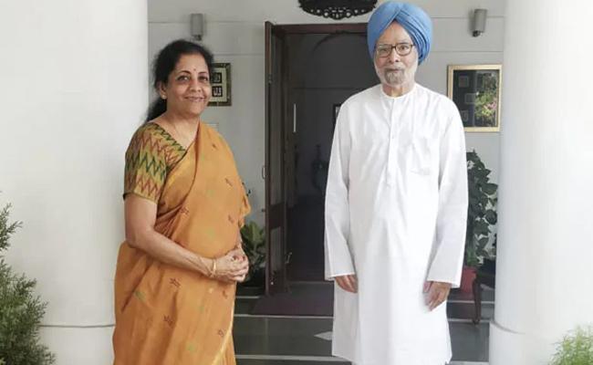 Nirmala Sitharaman Meets Manmohan Singh - Sakshi