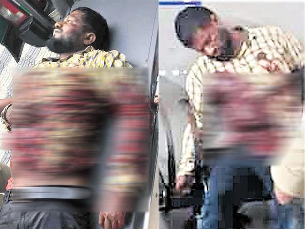 Brutal murder of a young man near Punjagutta police station - Sakshi