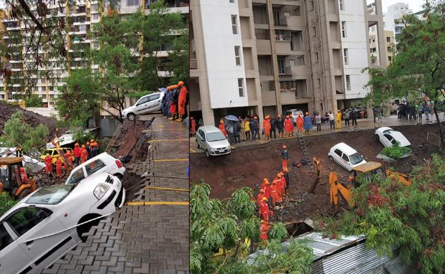 Nearly 16 Members Died In Pune Due To Wall Collapse - Sakshi