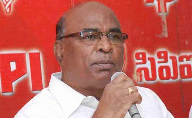 CPI Chada Venkat Reddy Slams KCR Over Illegal Buildings - Sakshi