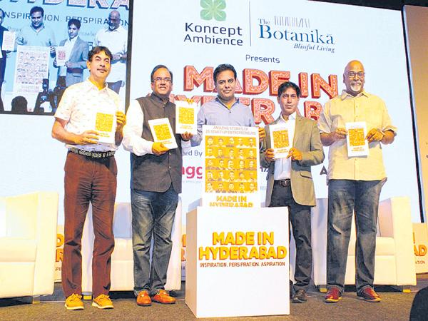 Guide to Country with Startups says KTR In Book Launch - Sakshi