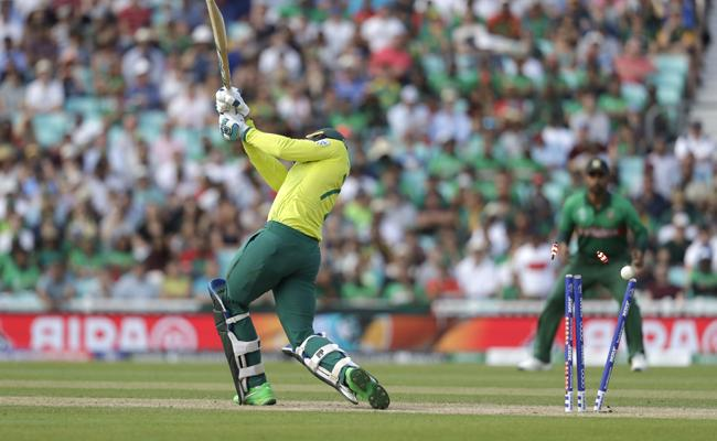 Bangladesh won by 21 runs against South Africa - Sakshi