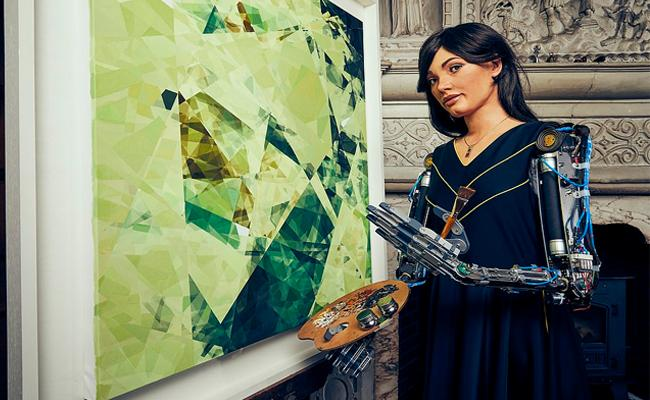 Humanoid Robot Paints Exhibition In Oxford University - Sakshi