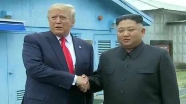 In Historic First Donald Trump Meets Kim Jong Un - Sakshi