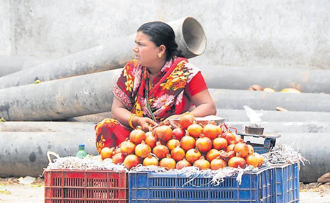 Sarpanch Continuing Fruits Business In Nalgonda District - Sakshi