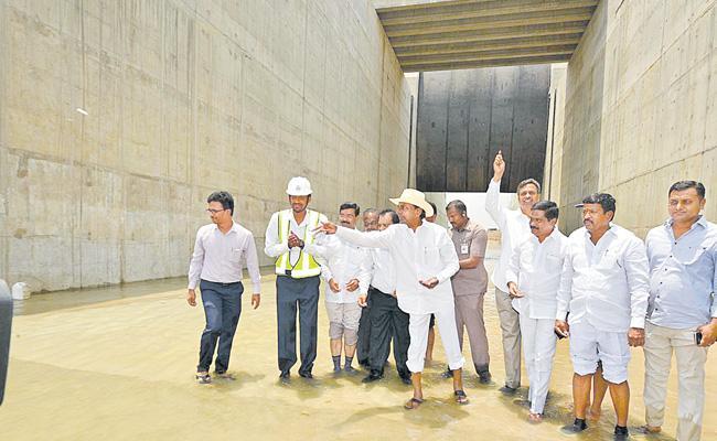 Telangana CM KCR Visits Kaleshwaram Project - Sakshi