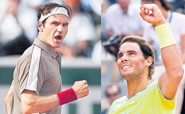 Roger Federer and Rafael Nadal win to set up special French Open semi final  - Sakshi
