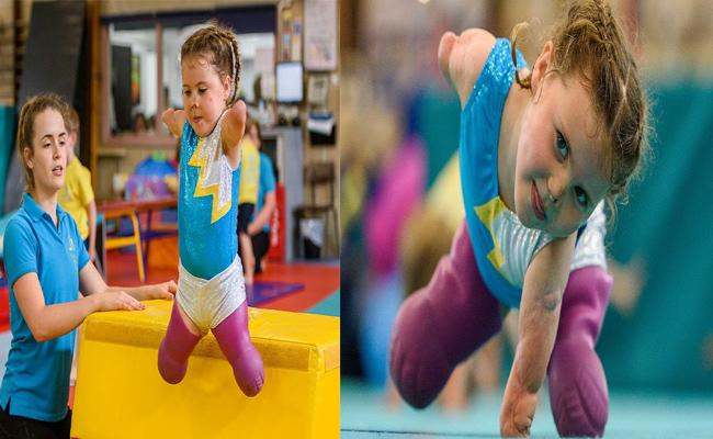 Child Practicing Gymnastics Without Having Hands And Legs - Sakshi