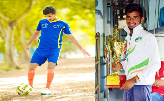 Katta Gandhi in Asian Football Championship - Sakshi