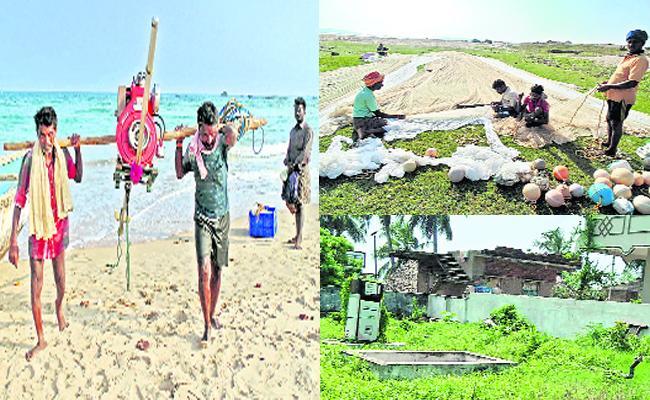 Diesel Subsidy Cut to Fishermen Visakhapatnam - Sakshi