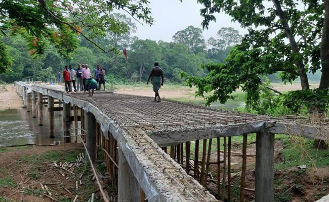 Odisha Man Constructs Bridge Across River With His Pension Money - Sakshi