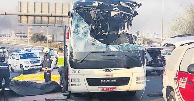 12 Indians among 17 killed in Dubai bus crash - Sakshi