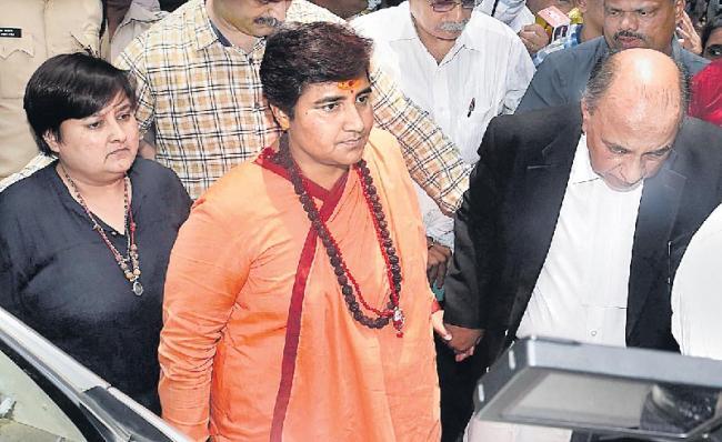 Pragya Singh Thakur attends hearing in Mumbai court - Sakshi