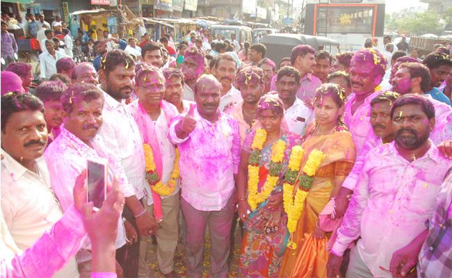 TRS Josh In MPP Elections - Sakshi