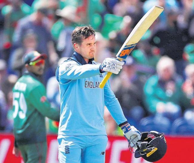 England beat Bangladesh by 106 runs at Cricket World Cup - Sakshi