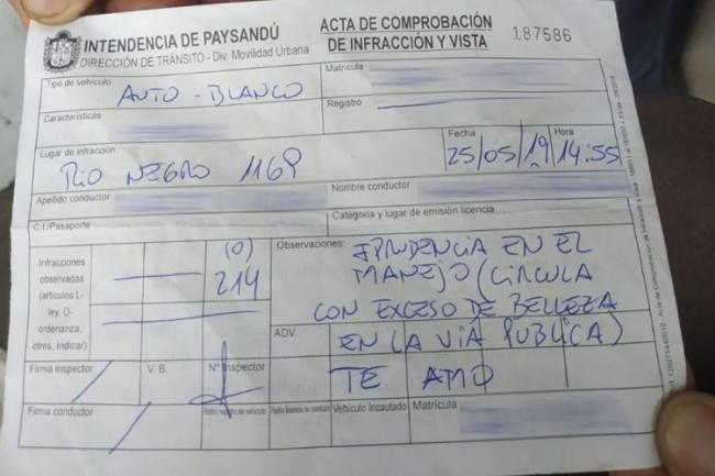 Uruguay Traffic Police Fined A Driver For Circling With Excess Beauty - Sakshi