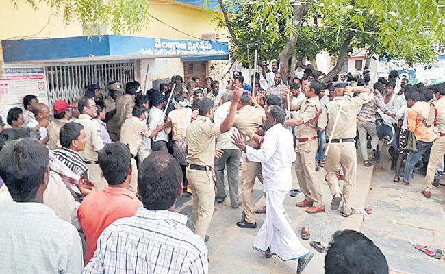 Tension Situations At MPP Elections In Jogulamba Gadwal - Sakshi