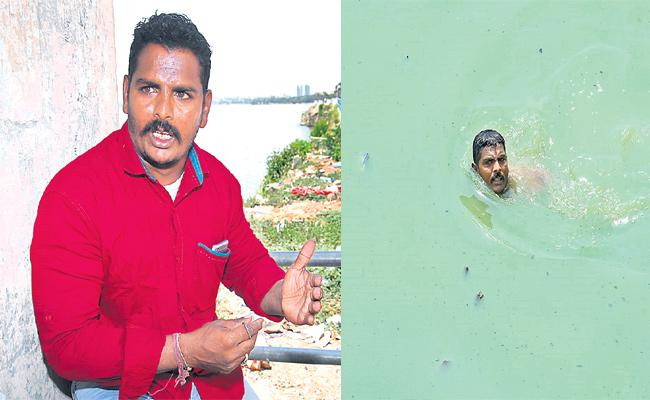 Hussain Sagar Rescue man Shiva Special Story - Sakshi