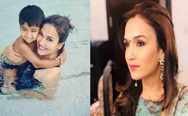 Soundarya Rajinikanth Deletes Pool Pic With Son - Sakshi
