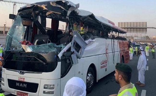 Height Barrier Caused Bus Accident Killed 17 Passengers In Dubai - Sakshi