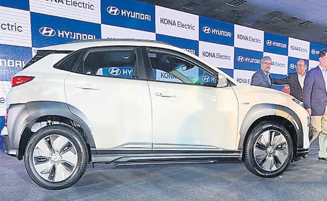 Hyundai Launch Kona Electric Car - Sakshi