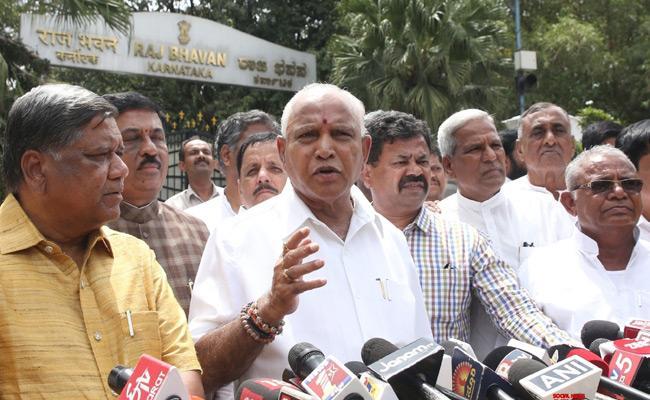 Yeddyurappa Says Kumaraswamy Has No Moral Right To Continue   - Sakshi