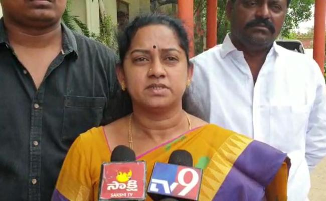 Gangula Bhanumathi Complaint Against TDP Leaders - Sakshi