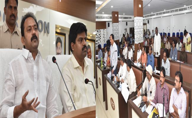 Alla Nani Fired On Municipal Development Officers In Eluru - Sakshi