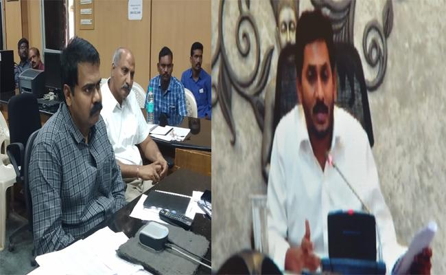 CM Jagan Video Conference With Nellore Collector - Sakshi