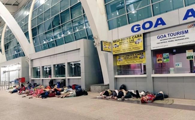 Goa Minister Calls Tourists Sleeping Outside Airport Scum - Sakshi
