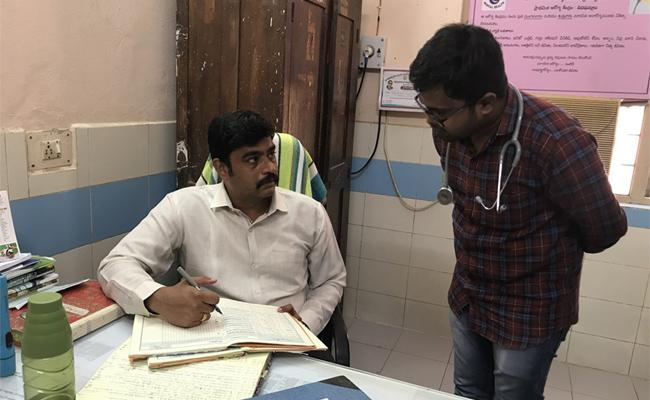 Collector Nivas Fired On Medical Officer About Staff Taking Leaves In Veeraghattam PHC - Sakshi