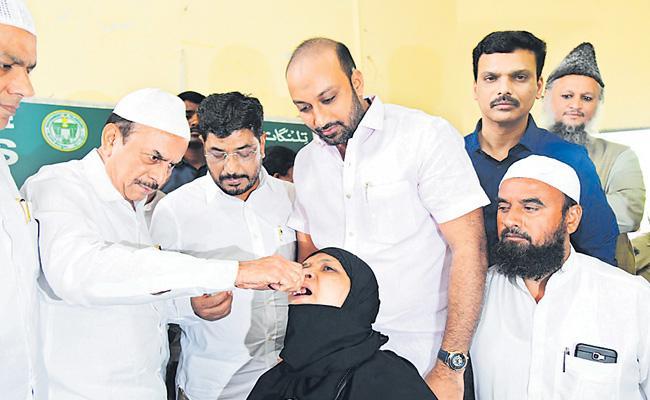 Mahmood Ali Inaugurates Vaccine Camp At Haj House - Sakshi
