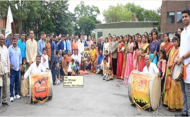 Bonala Jathara Was Held In London Under The Aegis Of The Telangana Association Of United Kingdom - Sakshi