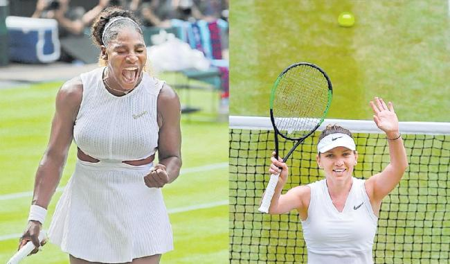 Serena Williams and Simona Halep Advance to Wimbledon Final - Sakshi