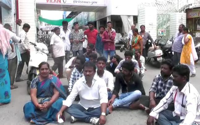 Victims Protest against Kodela Family Continues - Sakshi