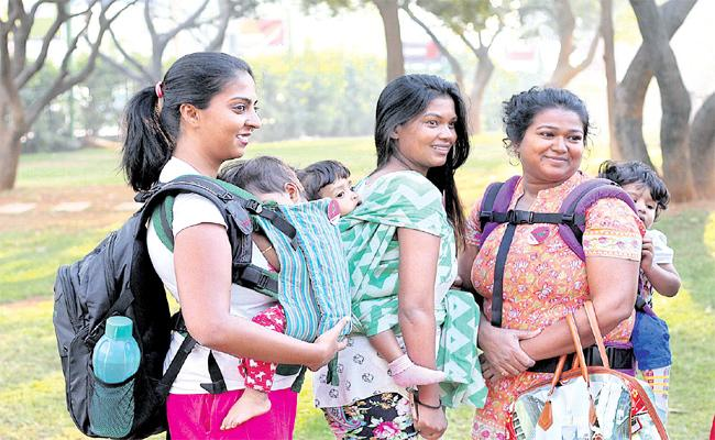 Baby Wearing Education in Hyderabad - Sakshi