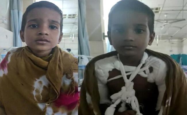 Kidnaper Breaks Child Hand At Langer House In Hyderabad - Sakshi